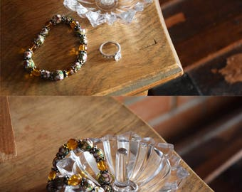 Cristal D'Arques Glass Jewelry Ring Bowl - Necklace, Trinket, or Ring Holder - Made in France - CRYSTAL DARQUES - Vintage