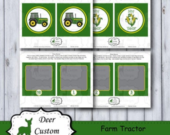 1st Birthday Photo Banner | Farm Birthday Photo Banner | First Year Photo Banner | Monthly Milestone Banner | John Deere Birthday Party