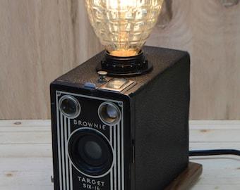 Kodak Brownie Target Six-16 Steampunk Lamp