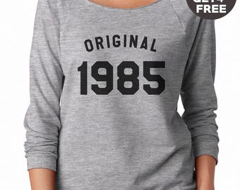 33th birthday gift sweatshirt 1985 tees funny shirt graphic tees birthday shirt ladies sweater pullover sweater women sweatshirt men sweater