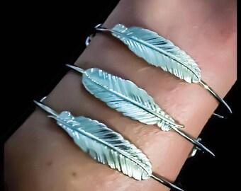 Original Angel Feather Bangle | Remembrance Bracelet | Grief Mourning Bracelet | In Loving Memory Gift