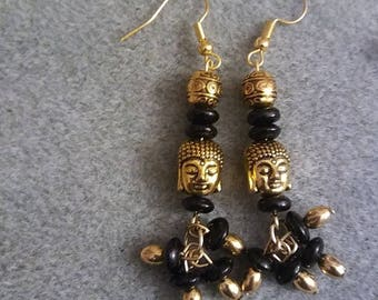 BlackGold Buddha - Handmade earrings by Ansley Jukeboxx Joye