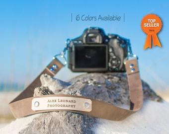 Custom Camera Strap, Leather Camera Strap, Personalized camera strap, Photography Strap, Nikon, Canon, Sony Camera Strap, valentines gift,