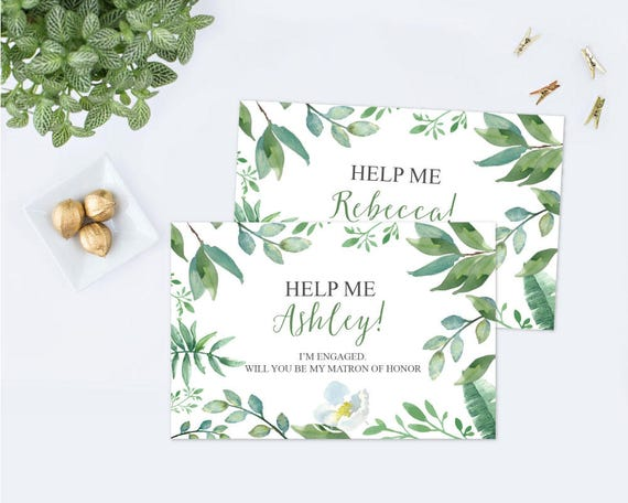BRIDESMAID PROPOSAL Printable Personalized Card, Will You Be My ...