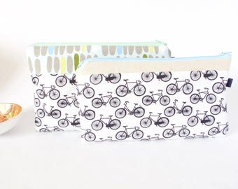 BICYCLE Bag. Bachelorette Gift. Bridesmaid Gift. Cute Bike Pouch Bicycle Gift for Friend, Sister. Cute Pencil Case. Bike Pouch.Bike Fanatic