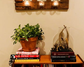 Reclaimed Wood Candle/Plant Wall Decor