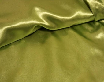 Clearance Price! ~ Sparkle Glitter Green Satin Fabric ~ Costume fabric ~ 59 inch wide