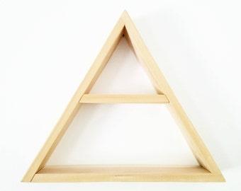 Wood Triangle Floating Shelf - Geometric Mountain shelves