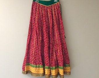 Girls Maxi Skirt Tween Indian Boho