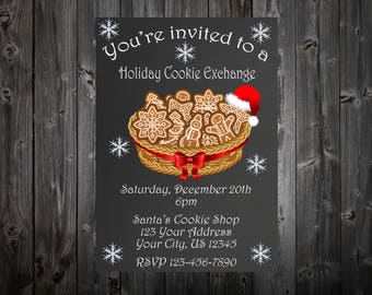 Christmas Cookie Exchange Party Invitaiton