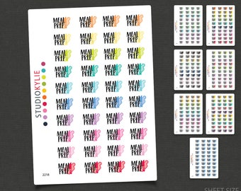 Meal Prep Stickers - Planner Stickers -Repositionable Matte Vinyl to suit all planners