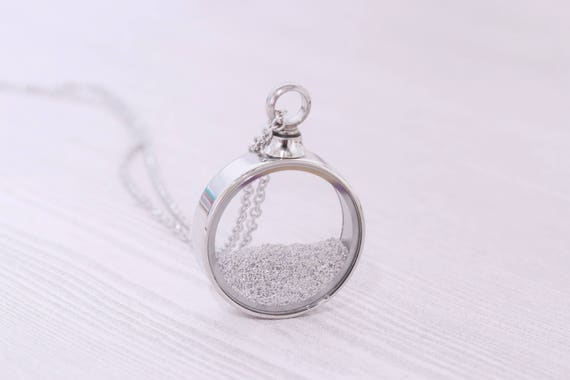 Stainless memorial glass locket pendant cremation jewelry like this item mozeypictures Choice Image