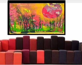 Large Nature painting,, acrylic painting, large Wall Art, modern canvas print, paper print, original abstract giclee canvas art