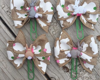 Easter Bunny Planner Bow Clip