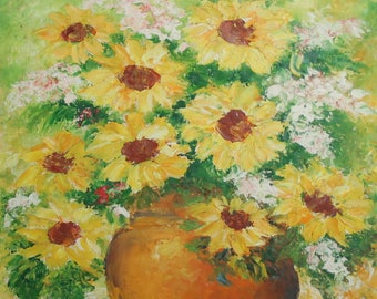 Impressionist still life oil painting signed