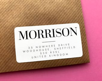 Modern Address Sticker, Wedding Address Label, Family Address Label, Elegant Address Sticker, Return Address, Simple Address Sticker