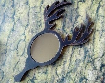 Deer mirror, unique mirror, deer ornamnet, deer antler