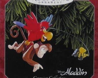 Hallmark Iago Abu and The Genie Disney Aladdin Keepsake Ornament Genie Bee Christmas Vintage Robin Williams Parrot Monkey