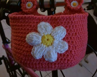 Daisy Basket for Bicycle or Walker Crochet Pattern