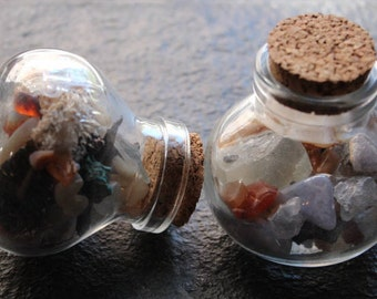 Minerals  in a Bottle - Crystals - Minerals