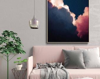 Abstract Art, Cloud Painting Print , Cloud Print , Cloudscape Art Print , Large Wall Art , Abstract Wall Art , Modern Painting , Cloud Art