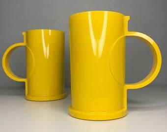 set of two vintage bright yellow Dansk Gunnar Cyren Denmark cups