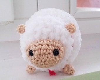 Sheep plush toy crochet handmade fluffy soft