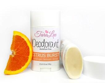 Citrus Deodorant, All Natural Deodorant, Vegan Deodorant, Aluminum Free Deodorant, TaraLee Deodorant