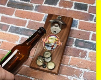 Magnetic Bottle Opener - Beer Bottle Opener - Cap Catcher Bottle Opener - Magnetic Bottle Opener - Magnetic Beer Opener - Starr Opener
