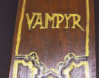 Wooden trinket box, Vampyr Book from Buffy - Handmade