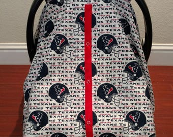 Texans Car Seat Canopy / NFL Car Seat Canopy