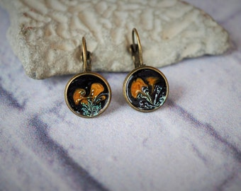 "Earrings ""Orange flowers"""