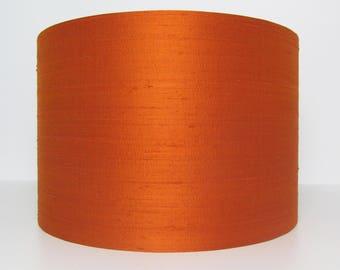 Orange Silk Dupion Lampshade