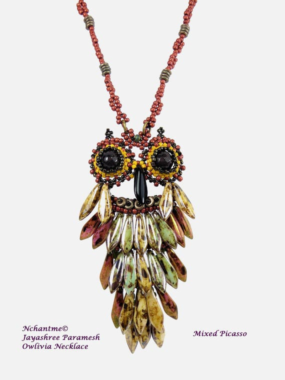 Owlivia Necklace Tutorial Instant Download