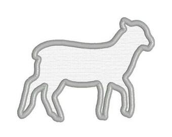 Embroidery Applique File Design Pattern Show Lamb