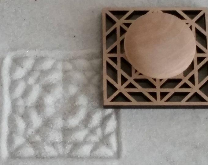 Zen Garden Stamp, Sand Stamp