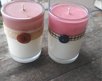 Earth Soy Candles, Color Soy Candles, Sandalwood scent, Dragon's Blood scent, free shipping