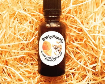 Orange and Cardamom beard oil - a hydrating moisturising conditioning oil for men's beards and skin for healthy, soft & strong beard growth