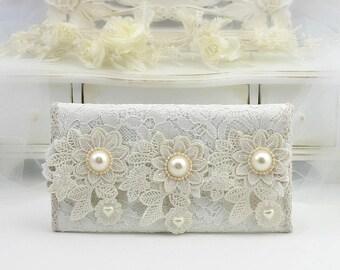 Bridal Clutch Bag, Bridal Bag, Clutch Bag, Bridesmaid Clutch, One Of A kind, Envelope Clutch, Foldover Clutch, Summer Wedding, Wedding Ideas