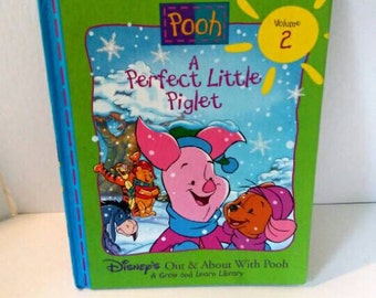 A Perfect Little Piglet Pooh book, Disney's Out and About with Pooh, Grow and Learn Library, 1996 children's book