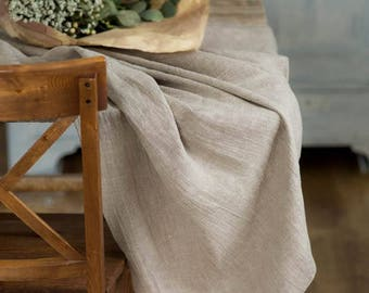 Wedding tablecloth, Natural rough linen table cloth, Burlap tablecloth, Rustic table cloth, Table cloth rectangle, Farmhouse tablecloth