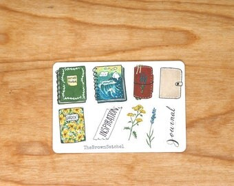 NOTEBOOKS - Journal Stickers, Botanical Stickers, Planner Stickers, Hobonichi Stickers, Junk Journal, Garden Stickers, Nature Stickers