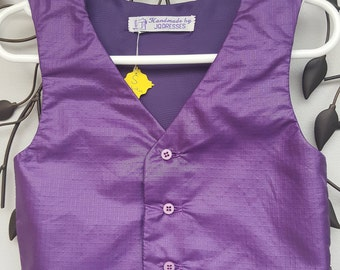 Baby boy Waistcoat, Page Boy Waistcoat, Boys Wedding Waistcoat, Special Occasions Waistcoat, Boys Formal Wear, 6-9 months. by JQDresses