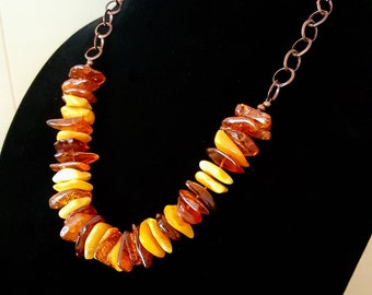 Modern Baltic Amber Necklace