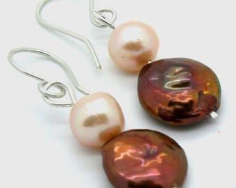 Ocean Fresh Water Pearls Earrings