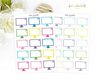 Large Computers || Planner Stickers