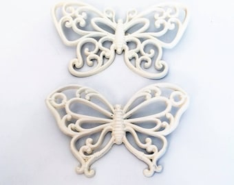 Vintage Homco Butterfly wall hangings