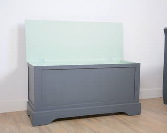 SOLD nursery, child's room furniture toy chest restyled