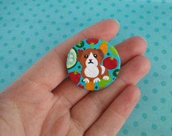 Guinea Pig Polymer Clay Vegetable Pin