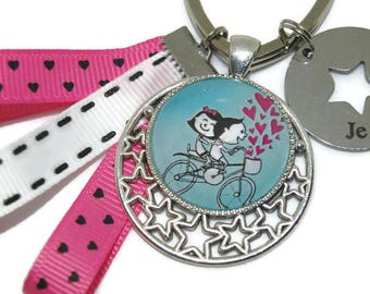 """Keychain """"bicycle lovers"""""""
